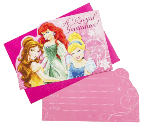 Disney Princess Sparkle Party Invitations