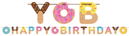 Donut Sprinkle Happy Birthday Banner