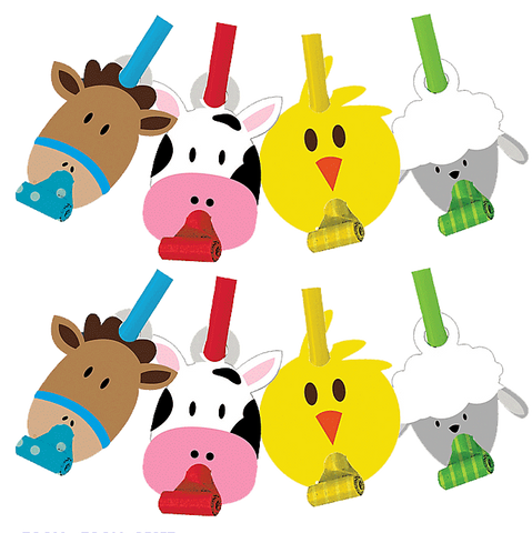 Farmhouse Fun Party Blowers