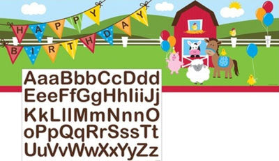 Farm Animal Happy Birthday Banner NZ