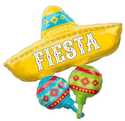 Fiesta Supershape Foil Balloon