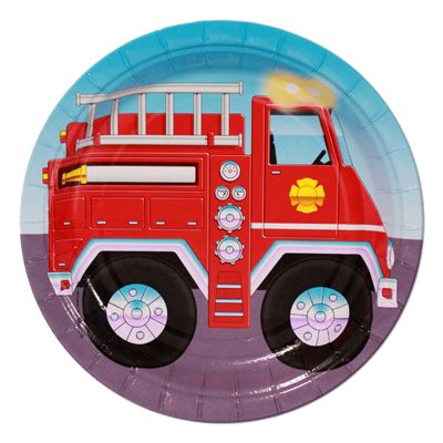 Fire Fighter Lunch Party Plates