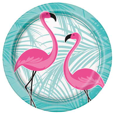 Flamingo Fun Party Plates