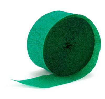 Dark Green Paper Streamer