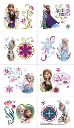 Frozen Party Tattoos NZ