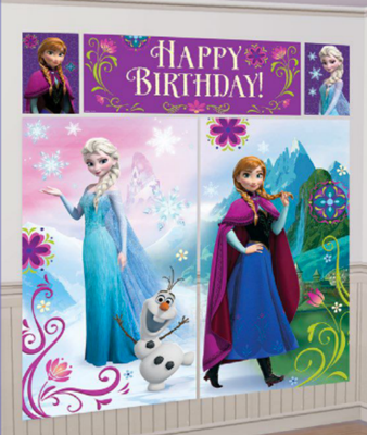 Frozen Scene Setters for decorating your party room