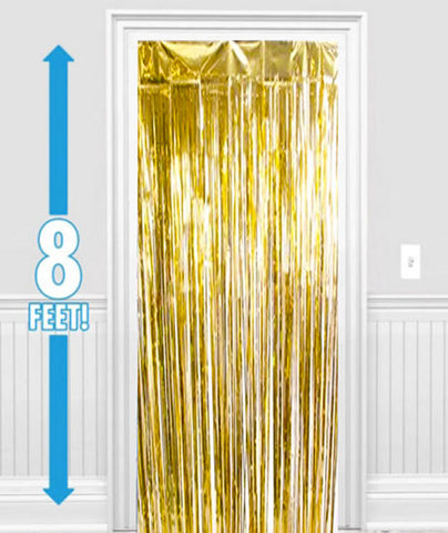 Gold Metallic Foil Curtain