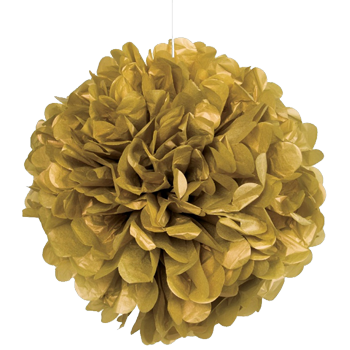 Gold Puff Ball Decoration