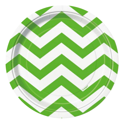 Green Chevron Lunch Plates