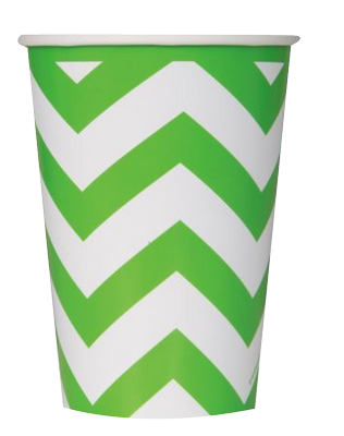 Green Chevron Party Cups