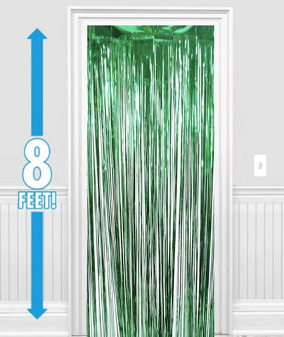 Green Metallic Foil Curtains NZ