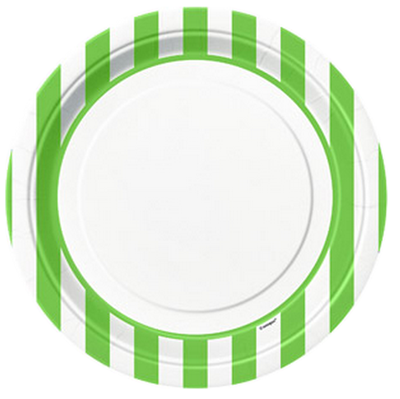 Green Striped Dinner Plates