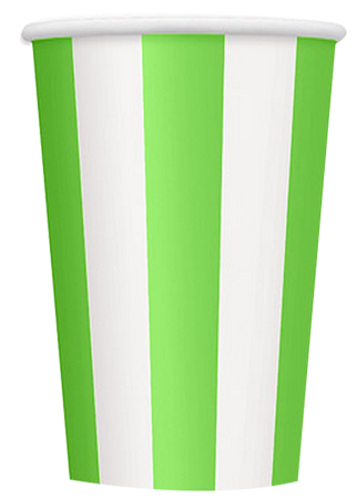 Green Striped Party Cups