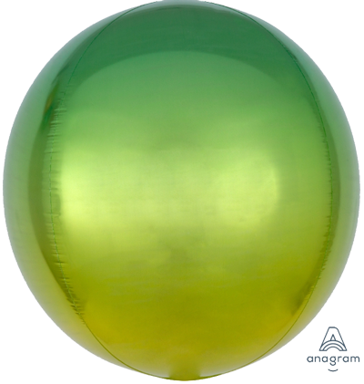 Green Yellow Ombre Orbz Foil Balloon