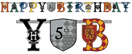 Harry Potter 'Happy Birthday' Banner