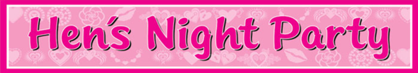 Hen's Night Party Banner