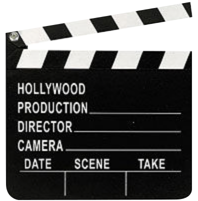 Hollywood Clapboard - wood
