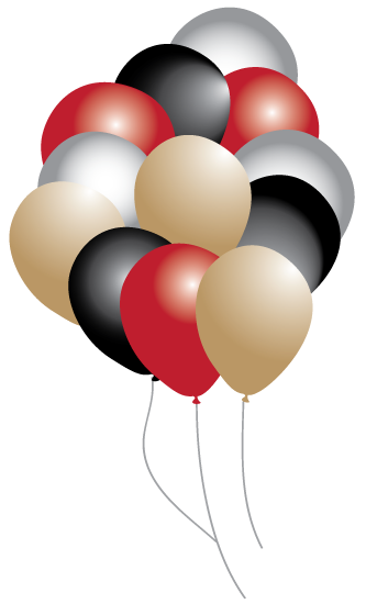Hollywood Balloons Party pack 16