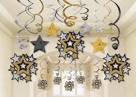 Hollywood Swirl Decorations Mega Value pack