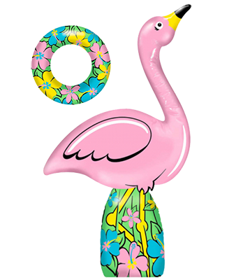 Inflatable Flamingo Ring Toss Game Nz