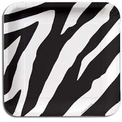 Zebra Jungle Party Plates