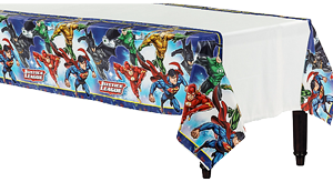 Justice League Plastic Table Cloth