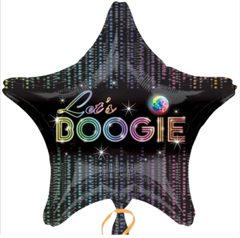 Let's Boogie Star Foil Disco Balloon