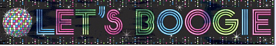 Disco Party Banner Decorations