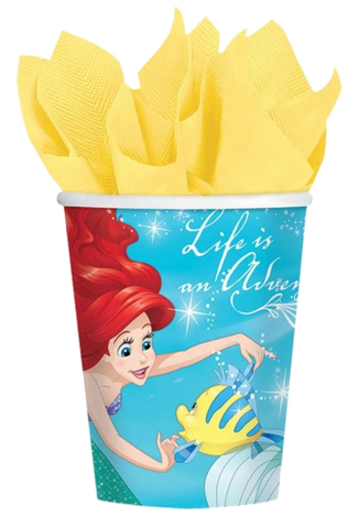 Ariel Mermaid Party Cups NZ