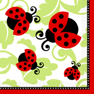 Lively ladybugs Small Napkins