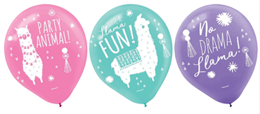 Llama Fun Latex Party Balloons NZ