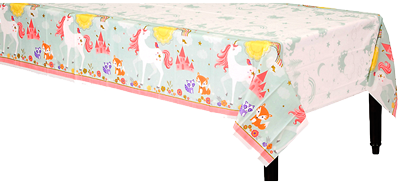 Magical Unicorn Plastic Table Cloth
