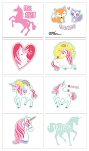 Magical Unicorn Party Tattoos