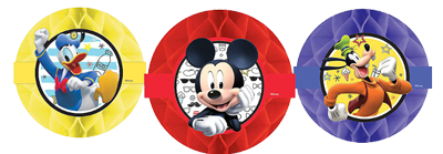 Mickey Mouse Honeycomb Hanging Decorations NZ