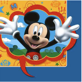 MIckey Mouse Napkins large pk16