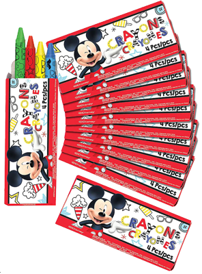 Mickey Mouse Party Crayons
