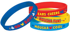 Mickey Mouse Rubber Bracelets pk4