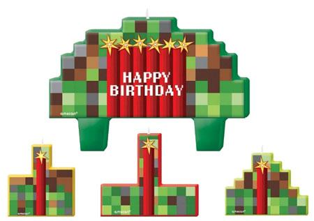 Minecraft Party Candles