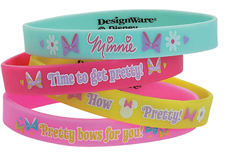 Minnie Mouse Rubber Bracelets pk4