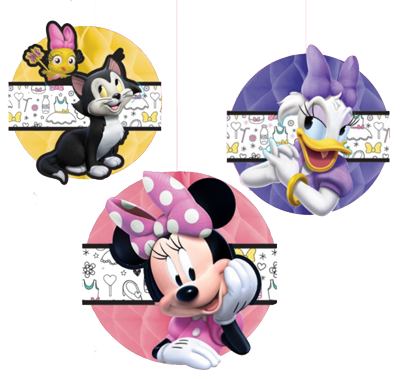 Minnie Mouse Honeycomb Decorations NZ