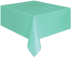 Mint Plastic Table Cloth