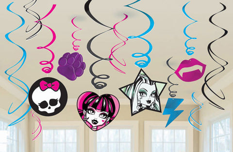 Monster High Swirl Decorations
