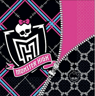 Monster High Lunch Napkins & Monster High Party Supplies | Just Party Supplies NZ