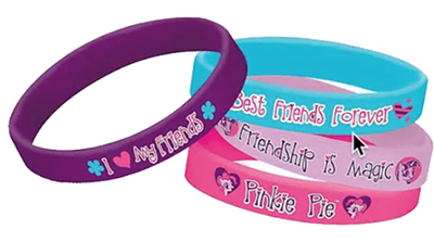My Little Pony Rubber Bracelets pk4