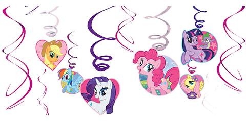 My Little Pony Swirl Decorations NZ