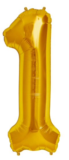 Number One 1 Jumbo Gold Foil Balloon