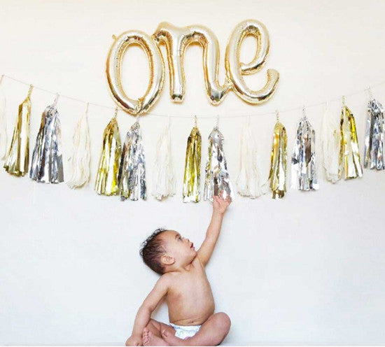 'One' Script Foil Balloon
