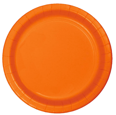 Orange Small paper party plates NZ