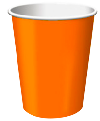 Orange paper Party Cups NZ