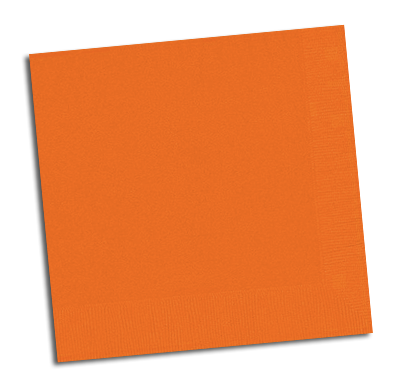 Orange Party Napkins NZ